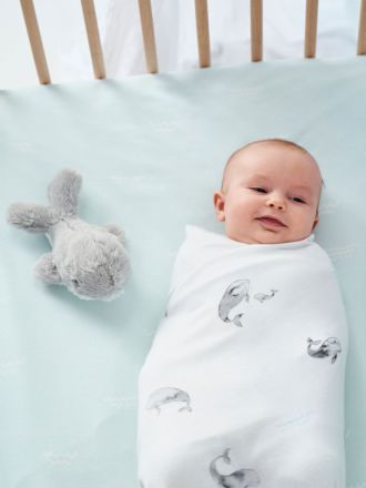 Whale Of A Time 3-Piece Baby Wrap Set