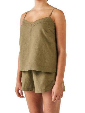 Nimes Olive Linen Cami