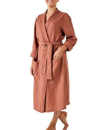 Nimes Rust Linen Robe