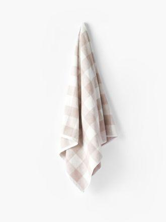 Flinders Check Beige Towel Collection