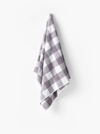 Flinders Check Grey Towel Collection