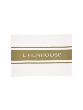 Linen House Olive Tea Towel