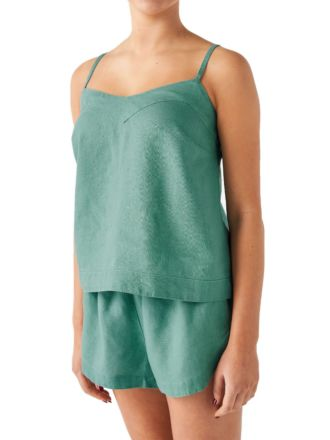 Nimes Sea Foam Linen Cami