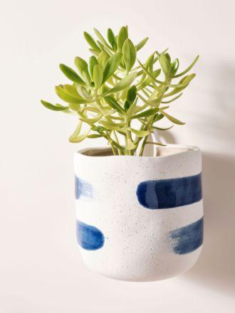 Paterna Blue Stripe Planter Pot 15cm