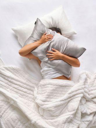 Silk Silver Pillowcase