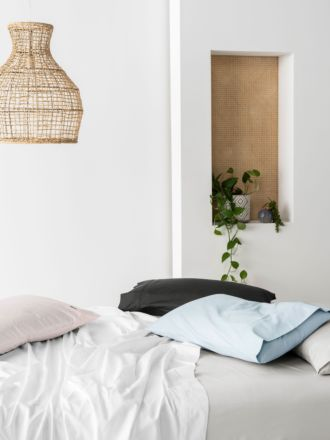 300TC Cotton Percale Fitted Sheet 40cm