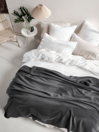 Wool Charcoal Blanket