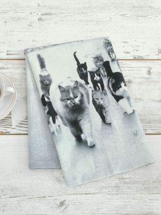 Cat Mob Tea Towel