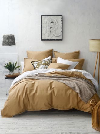 Stitch Ochre Quilt Cover Set