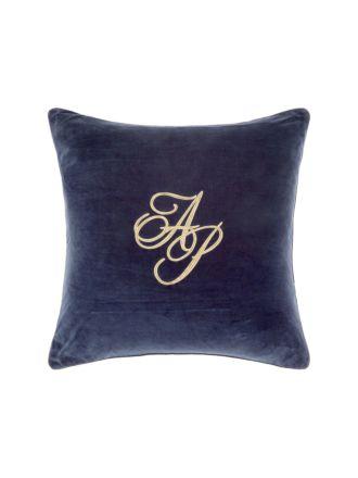Monogram Navy Cushion 60x60cm