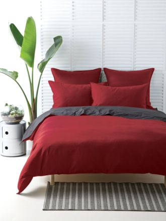 Waffle Red Quilt Cover Set