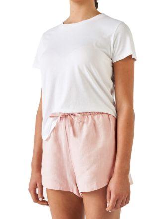 Nimes Rose Linen Shorts