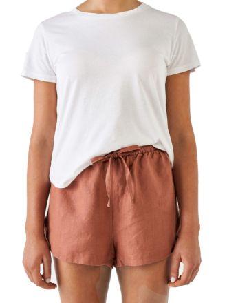 Nimes Rust Linen Shorts