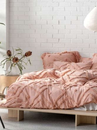 Adalyn Peach Quilt Cover Set