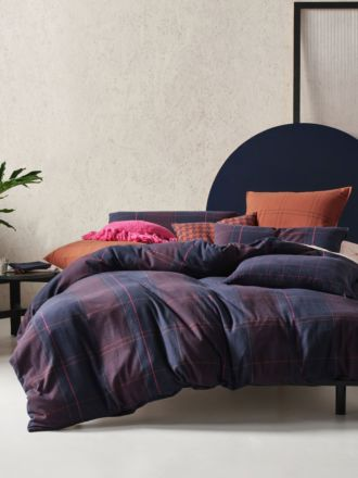 Albert Navy Quilt Cover Set
