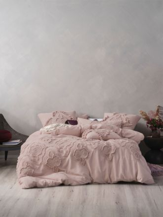 Alli Mauve Quilt Cover Set