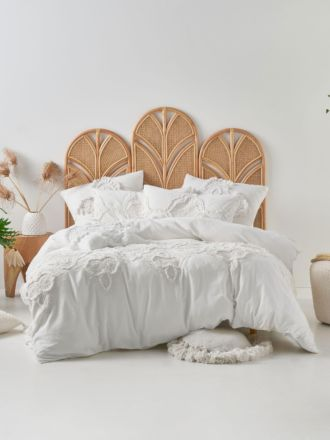 Alli White Quilt Cover Set