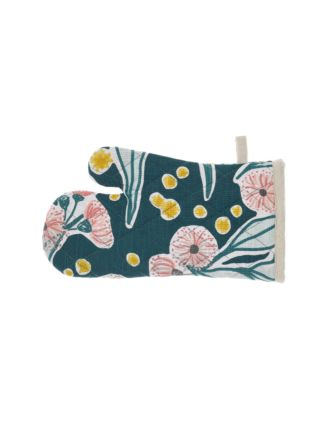 Evie Teal Oven Glove