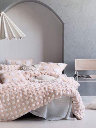 Haze Pink/White Quilt Cover Set