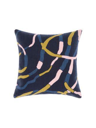 Lakebed Indigo Cushion 50x50cm