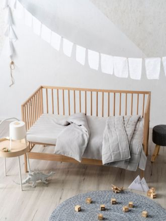 Maddison Grey Cot Quilt