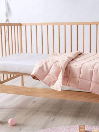 Maddison Pink Cot Coverlet