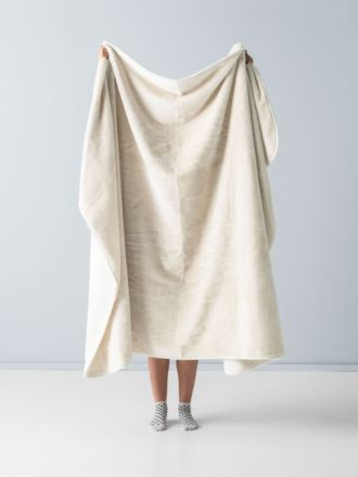 Mink Ivory Throw