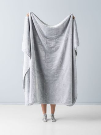 Mink Silver Throw