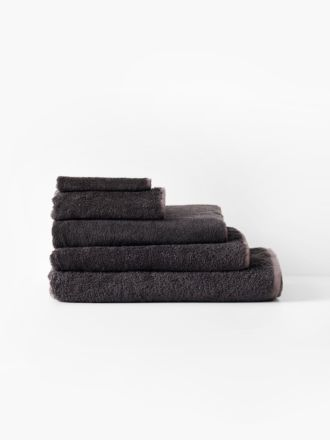 Nara Charcoal Towel Collection