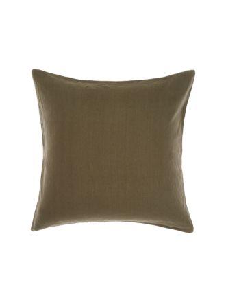 Nimes Olive Linen European Pillowcase