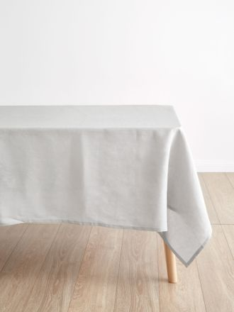Nimes Grey Linen Tablecloth