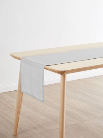 Nimes Grey Linen Table Runner