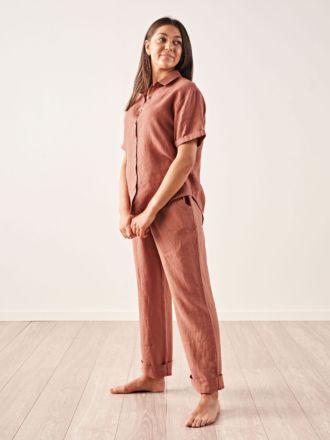 Nimes Rust Linen Shirt