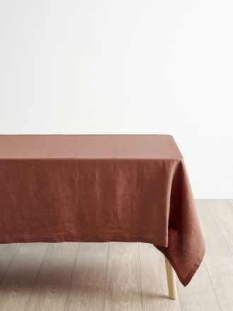 Nimes Rust Linen Tablecloth