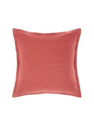 Nimes Tailored Linen Sangria Cushion 48x48cm