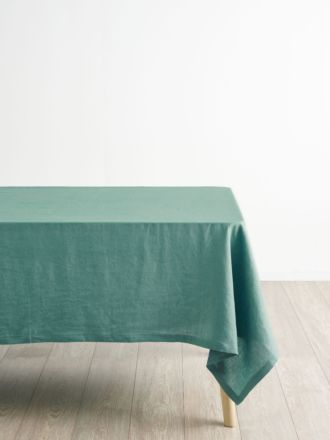Nimes Sea Foam Linen Tablecloth