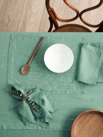 Nimes Sea Foam Linen Placemat