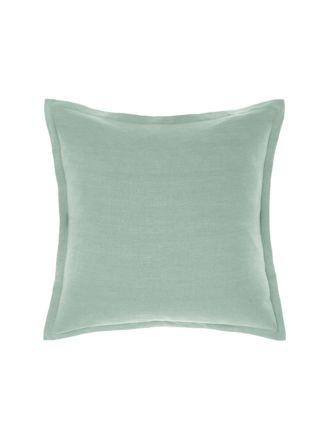 Nimes Sea Foam Tailored Linen Cushion 48x48cm