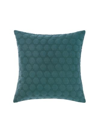Nimes Teal Linen Cushion 50x50cm