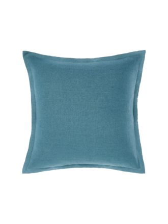 Nimes Teal Tailored Linen Cushion 48x48cm