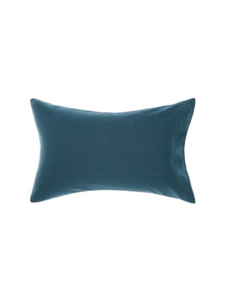 Nimes Teal Linen Standard Pillowcase