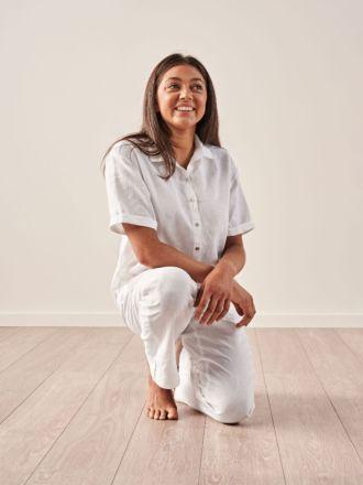Nimes White Linen Shirt