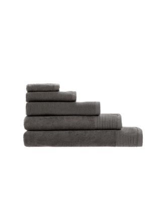 Riba Charcoal Towel Collection