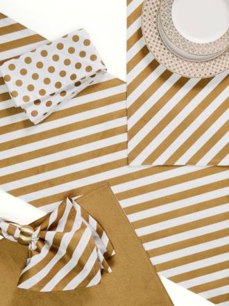 Saint Nic Stripe 4-Piece Napkin Set